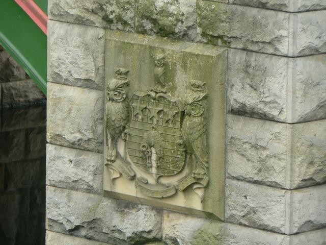 Civic Crest on Pier of Kirkstall Bridge