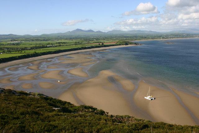 Llanbedrog beach from Mynydd Tir-Y-Cwmwd