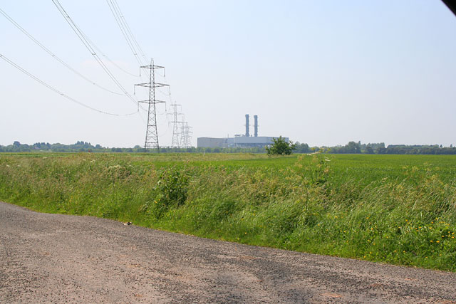 Stumps Lane, pylons and new power station