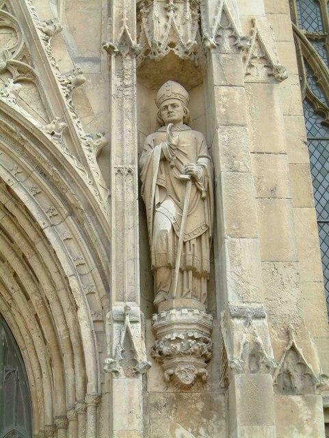 Statue - St John of Beverley on the Minster