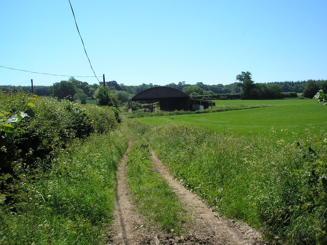 Dutch barn, Lodge Wood Estate, near Westerham, Kent