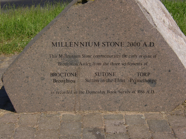 The Millennium Stone, Broughton Astley