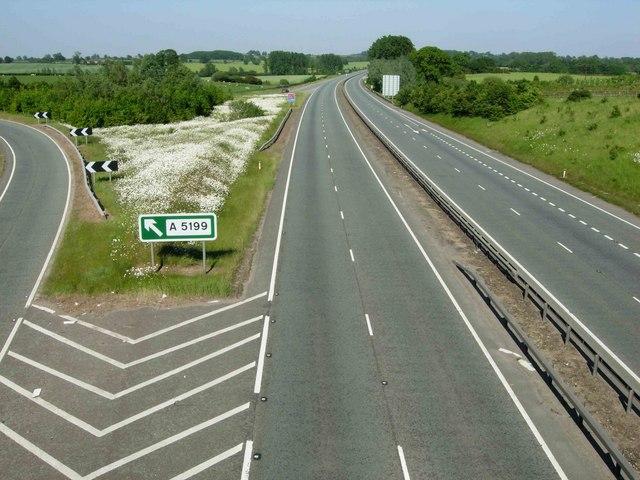 A14 near Welford