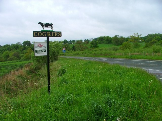 Sign for Cogrie Farm