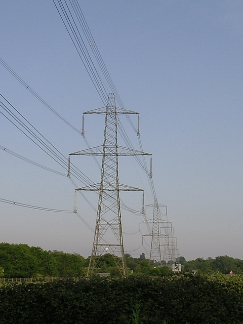 National Grid pylons at Ower