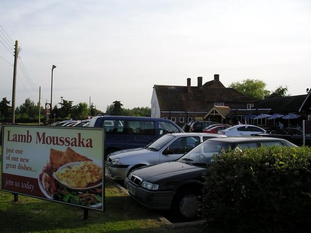 Lamb moussaka at the Vine Inn, Ower