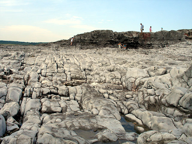 Limestone at the Back of Ogmore Beach