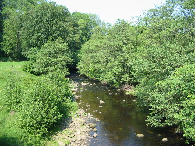 The River Burn viewed from the road bridge at SE207803