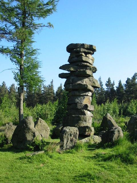 High stone pillar adjacent to the Druid's Temple near Ilton