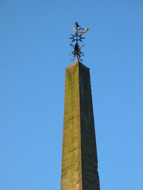 Top of the obelisk in Ripon City square