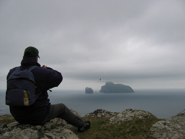 Looking out at Boreray from St Kilda