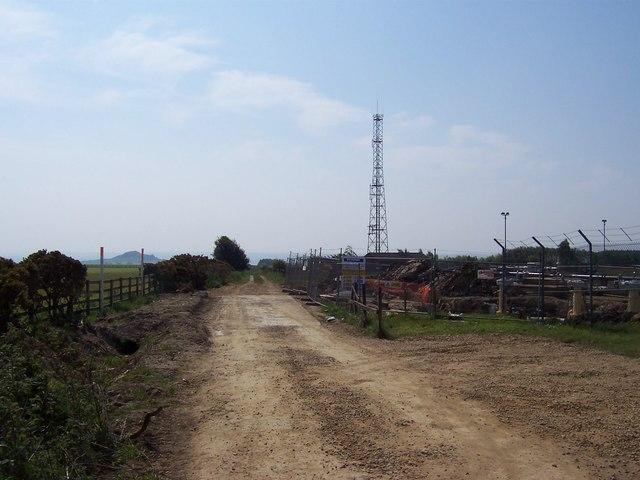 Mast near Briscoerigg Farm
