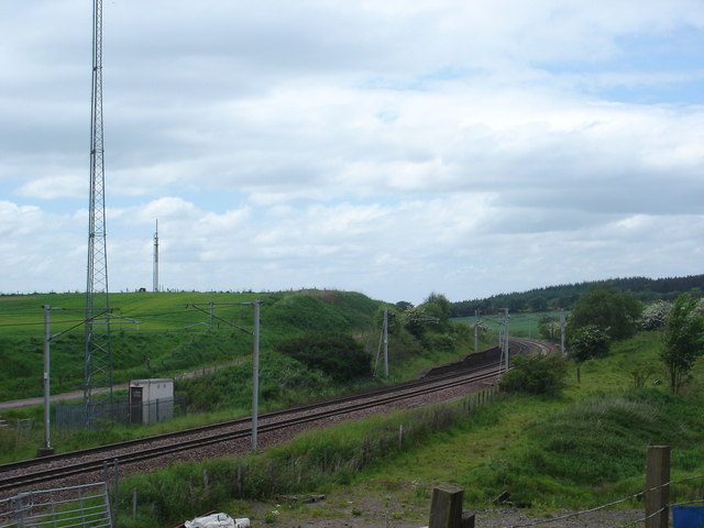 West Coast main line near Cleghorn, Lanark