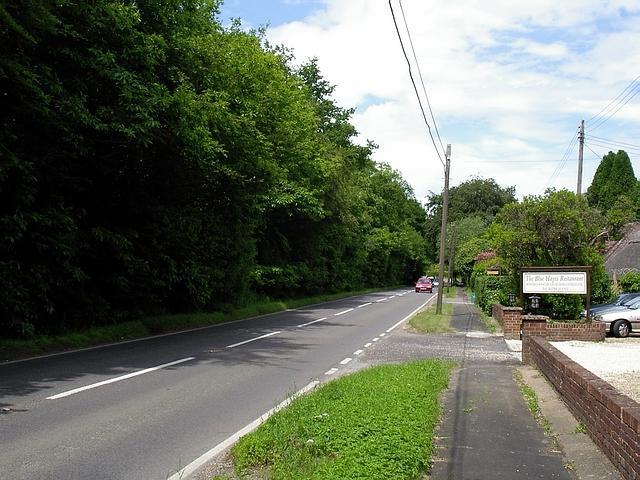 The A27, south east of Shootash