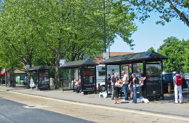 Bus stand Ringwood Hampshire