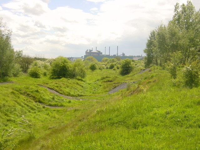 Re-claimed land near Carlton
