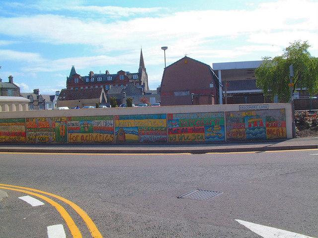 Murals on Falconers Lane, Nairn