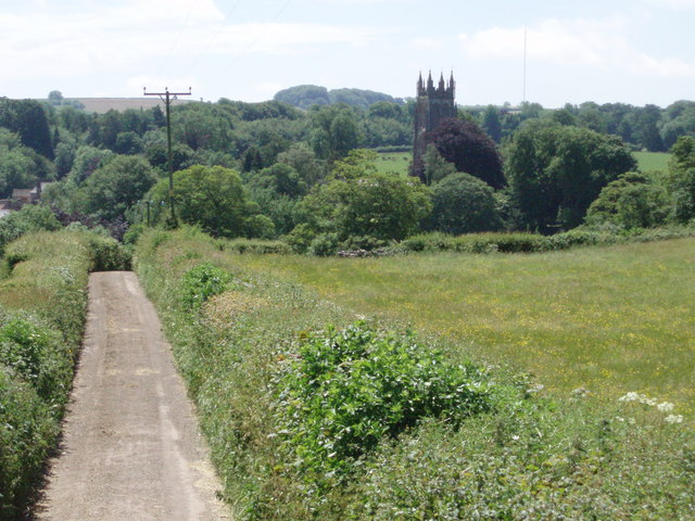 Field land and St Mary Magdalene's - Chewton Mendip