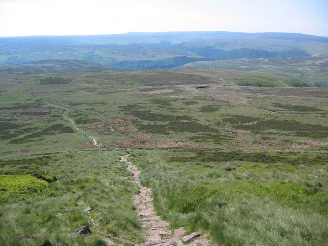 Panorama across Greystones Moss