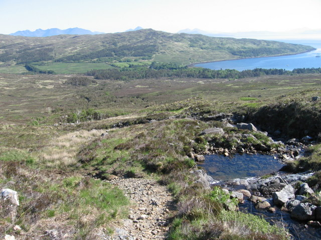 The path to Coire Dubh by the Allt Slugan a' Choilich