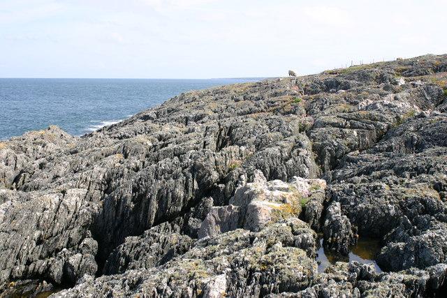 Rocky coast at Penrhyn Mawr