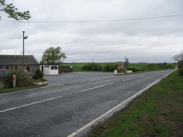 The A713 at Hollybush
