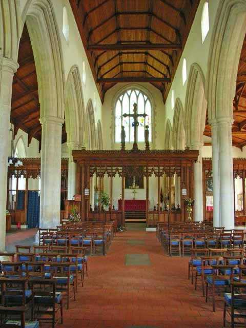 Interior of St Bartholomew's Church, Orford