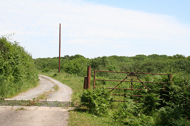 Llanrhidian Higher Community: entrance to Windmill Wood Farm