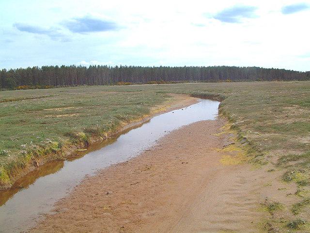 Channel Through Salt Marsh - Culbin Sands