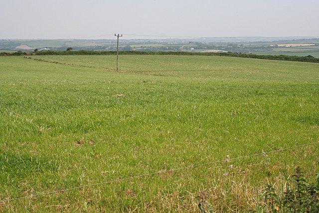 Fields outside St Newlyn East