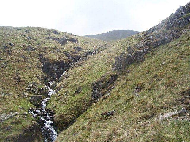 Brund Gill from path up Helvellyn