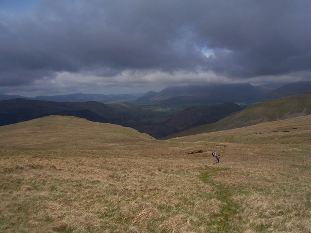 Whiteside bank, looking towards top of Brown Crag