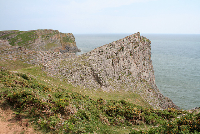Rhossili Community: rock outcrops at Mewslade Bay