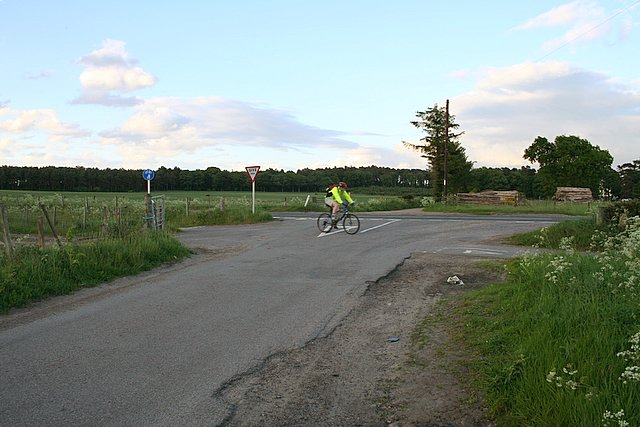 Cyclist en-route to Elgin .