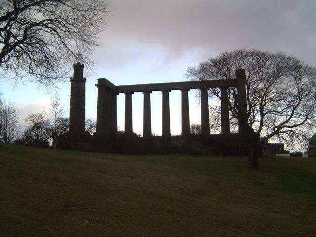'Edinburgh's Disgrace,' Calton Hill