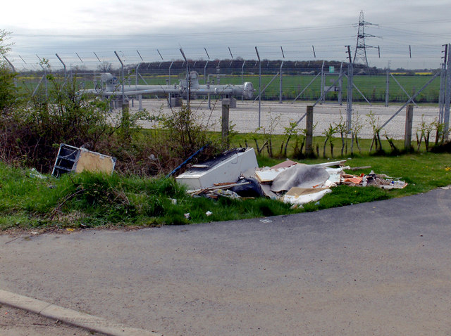 Flytipping near West Middle Mere Road