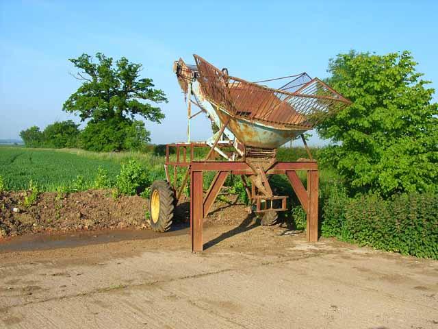 Farm machinery at Brandeston Hall