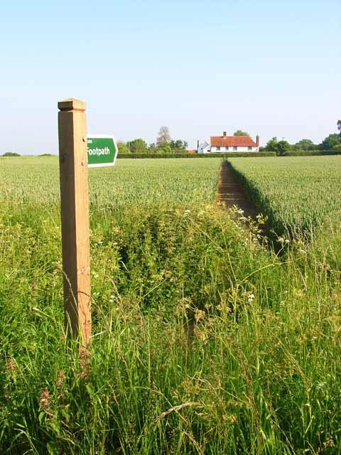 Footpath near Little Waldingfield