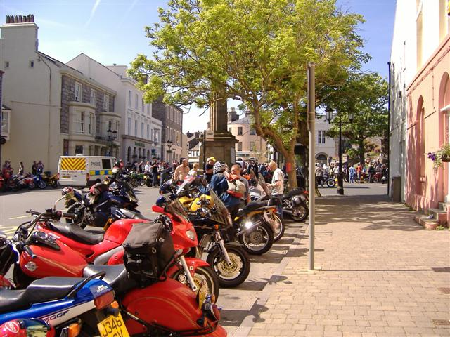 Motorbike rally, Castletown, Isle of Man