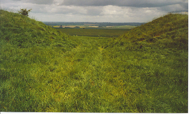A Gap in the Wansdyke, North of Milk Hill.
