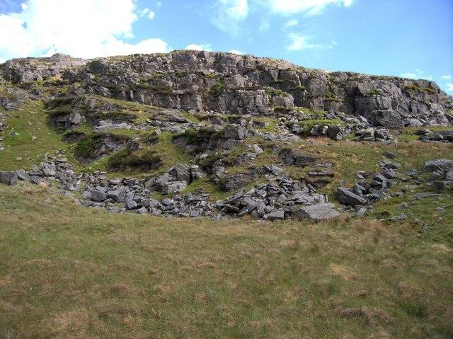 Cliff near Moel Ddinas