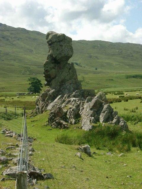 Natural rock sculpture at Inverguseran