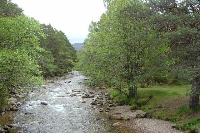 Upstream from Cairngorm Club Footbridge