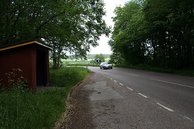South of Duffus on the B9012