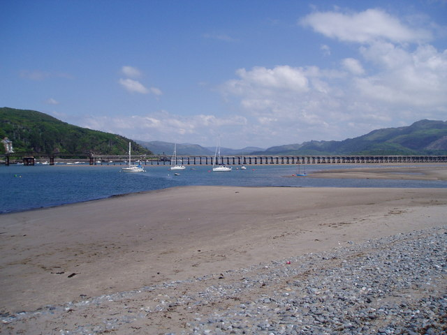 Toll bridge over the River Mawddach