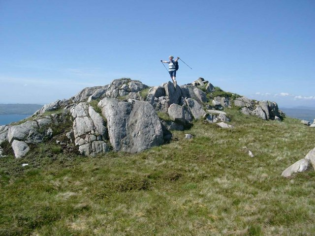 The summit of Meall Garbh nan Gobhar
