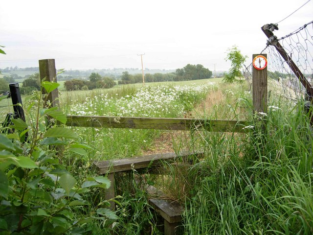 Footpath near Warmington