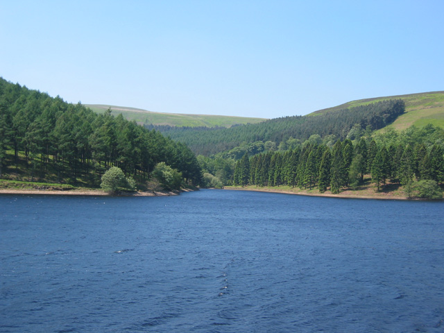 Inlet on west bank of Derwent Reservoir