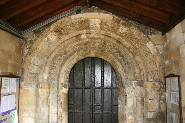 South door to St.Oswald's church