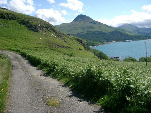 The main Knoydart road approaching Inverie